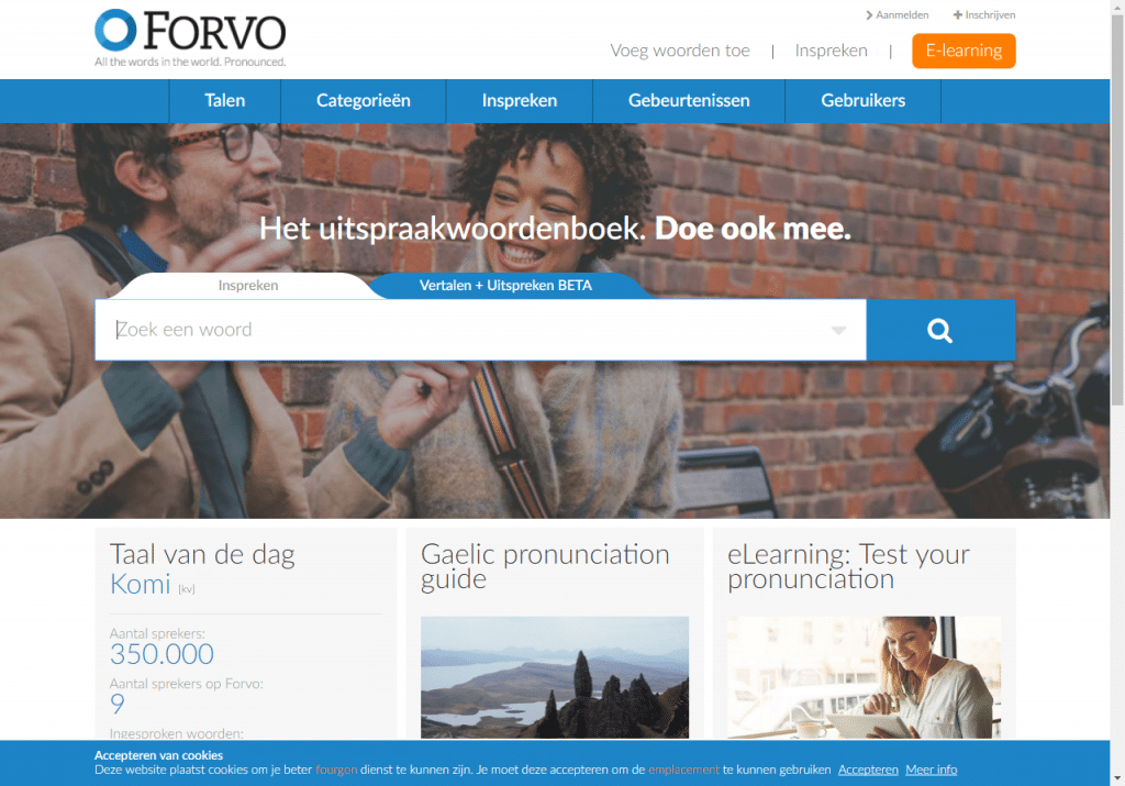 Taalapp/website Forvo
