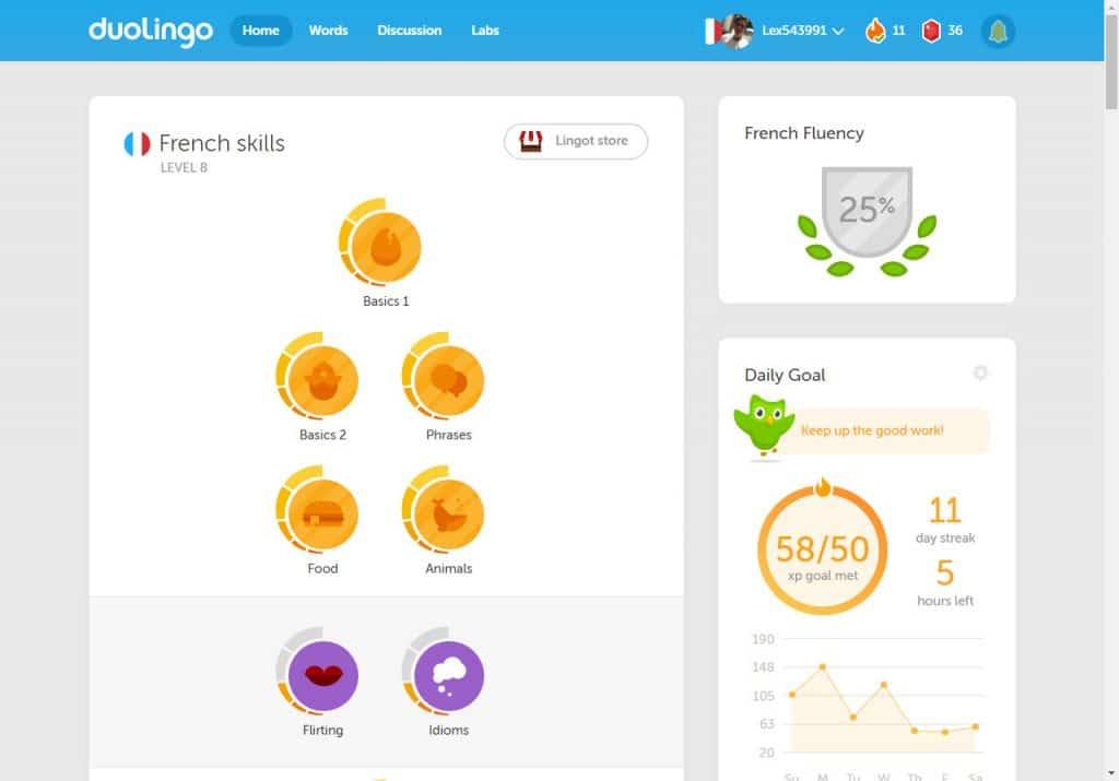 Taalapp Duolingo